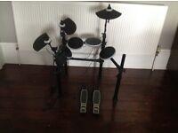 Alesis DM Lite Electronic Drum Kit, Meridian Stage Pro Amp(AK15B) & Pearl Drum Throne