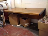 2 x Large computer desks. Wooden top with a metal frame