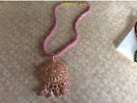 Costume jewellery pink necklace