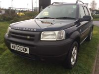 LAND ROVER FREELANDER 2.0 TD4 SERENGETI 2003 METALLIC BLUE MANUAL NEW MOT NO ADVISORIES
