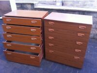 Schreiber 5 drawer chest, one left