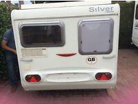 Triango Silver 310 pop up top caravan