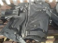 Mens leather biker jacket in exc condition size 38 only £40