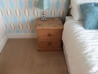 Solid country pine pair of 2 drawer chests