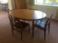 Ercol Dining table and chairs and matching Sideboard