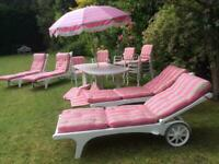 Vintage Triconfort Garden Furniture bought from Harrods in the 70's