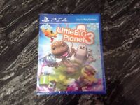 Little Big Planet 3 game for PS4. Brand New/sealed. PG 7 Rating