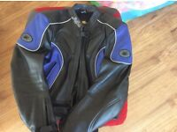 Lady's buffalo motorbike leather jacket 14