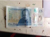£5 AK35 460435 collectors note