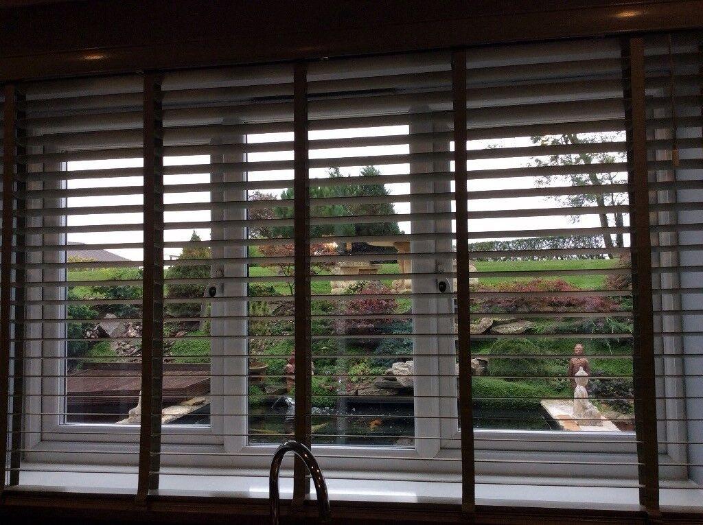 Next Soft green wood blinds
