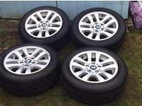 4 genuine BMW wheels and tyres