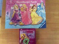 2 sets of Disney princess jigsaws