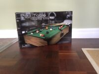 Pool table - mini tabletop billiards