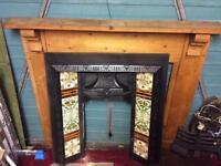 Gas Iron fireplace and surround