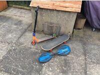 Skateboard (Blind), Ripstik & Scooter (Slam Pro)