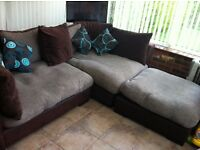 Reduced Dfs Madison range corner sofa with cushions