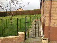 Wrought iron gates and fence