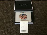 Authentic anya hindmarch leather sticker boom in original box
