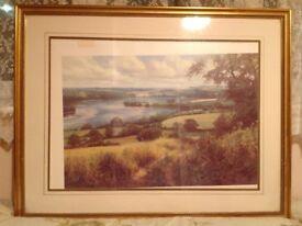 Print in frame of Galmpton Creek