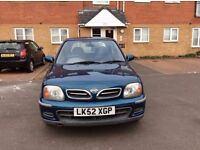 NISSAN MICRA IN EXCELLENT CONDITION WITH GENUINE LOW MILEAGE AND 9 MONTHS MOT FOR SALE