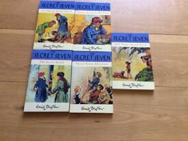 Five Enid blyton books called the Secret seven