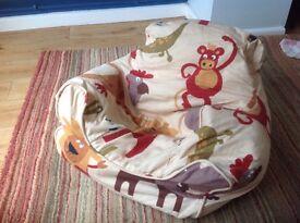 Small child bean bag chair