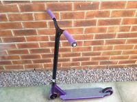 Sacrifice Flyte 115 Stunt Scooter - black/purple with all original features - excellent condition