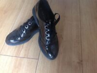 Girls black brogues, size 5 perfect for school or work