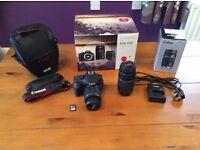 Canon EOS 1200D DSLR Camera & Double Lens Kit for sale