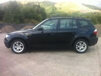BMW X3 D SE DEC 04 MANUAL FACTORY BLACK.