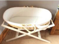Moses basket and stand from John Lewis.