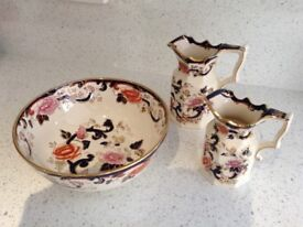 Mason (Bowl and 2 jugs)