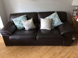Leather three seater couch