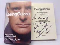 Paul Gascoigne Signed Autobiography Being Gazza Newcastle Spurs England Football Legend