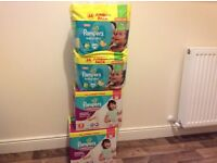 Pampers nappies/pants 5 and 5+