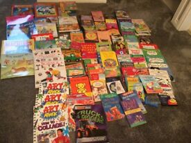 Selection of reading and activity books for children