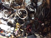 Box of electrical fittings - TV / Sky box / modem / Telephone