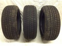 3 Winter Tyres 205/55/R16 91H