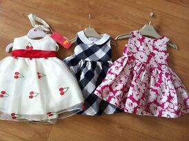 Baby girl designer dresses and shoes 3-6 months