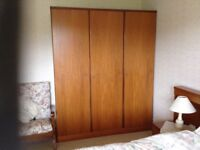 Stag Wardrobes (two) in excellent condition FREE