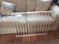 BabyDan extending white metal safety gate