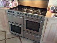 Belling Dual fuel range cooker. Gas hob, electric oven