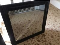 Nice quality mirror in a nice black frame(as new)