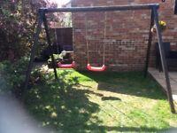 Children's Wooden Outdoor Swing