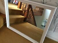 Large mirror. Has been painted but is originally old pine. Reduced