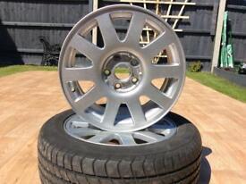 "5 Genuine 16"" Audi Alloy wheels"
