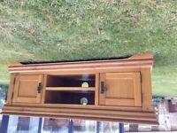 Solid oak, free standing TV cabinet