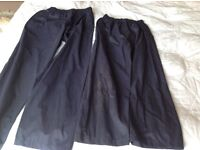 Unisex waterproof trousers age 7-8 or 9-10 both in Navy by Peter Storm