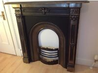 Victorian cast iron fire place £125