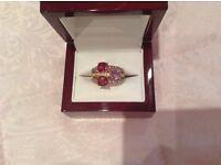 Levian designer ring stunning 14K strawberry gold